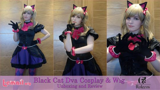 Black Cat Dva Wig & Cosplay review from L-email and Rolecosplay