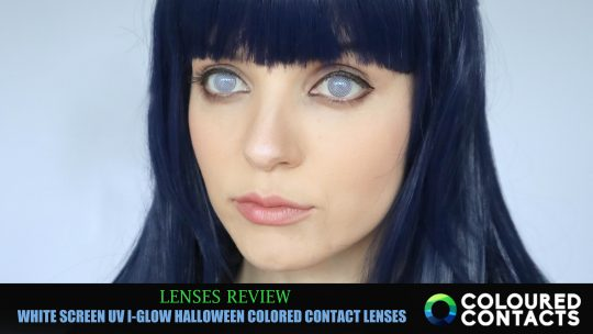 Lenses Review: WHITE SCREEN UV I-GLOW HALLOWEEN from Coloured Contacts