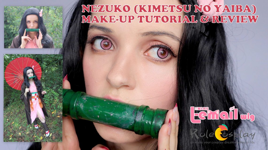 Cosplay Make-up & Review: Nezuko Kamado (Kimetsu no Yaiba) from L-email // Rolecosplay