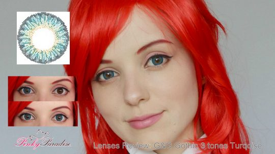 Lenses Review: G&G Gothic three tones turqoise