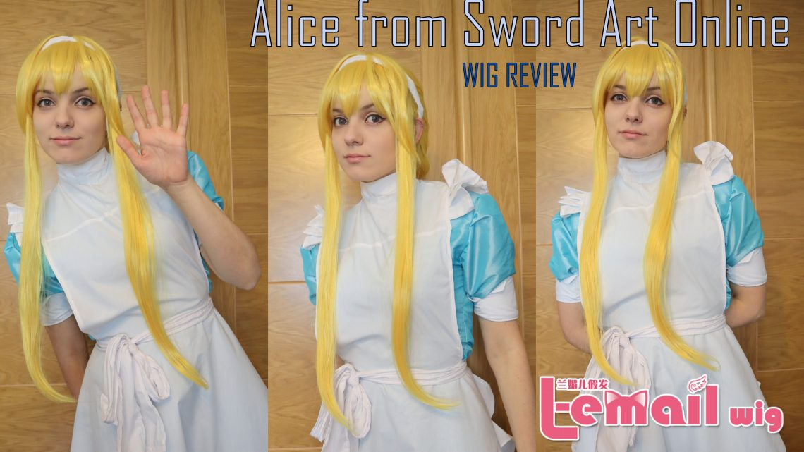 ALICE (Sword art Online: Alizitation) wig review from L-email // Wig supplier