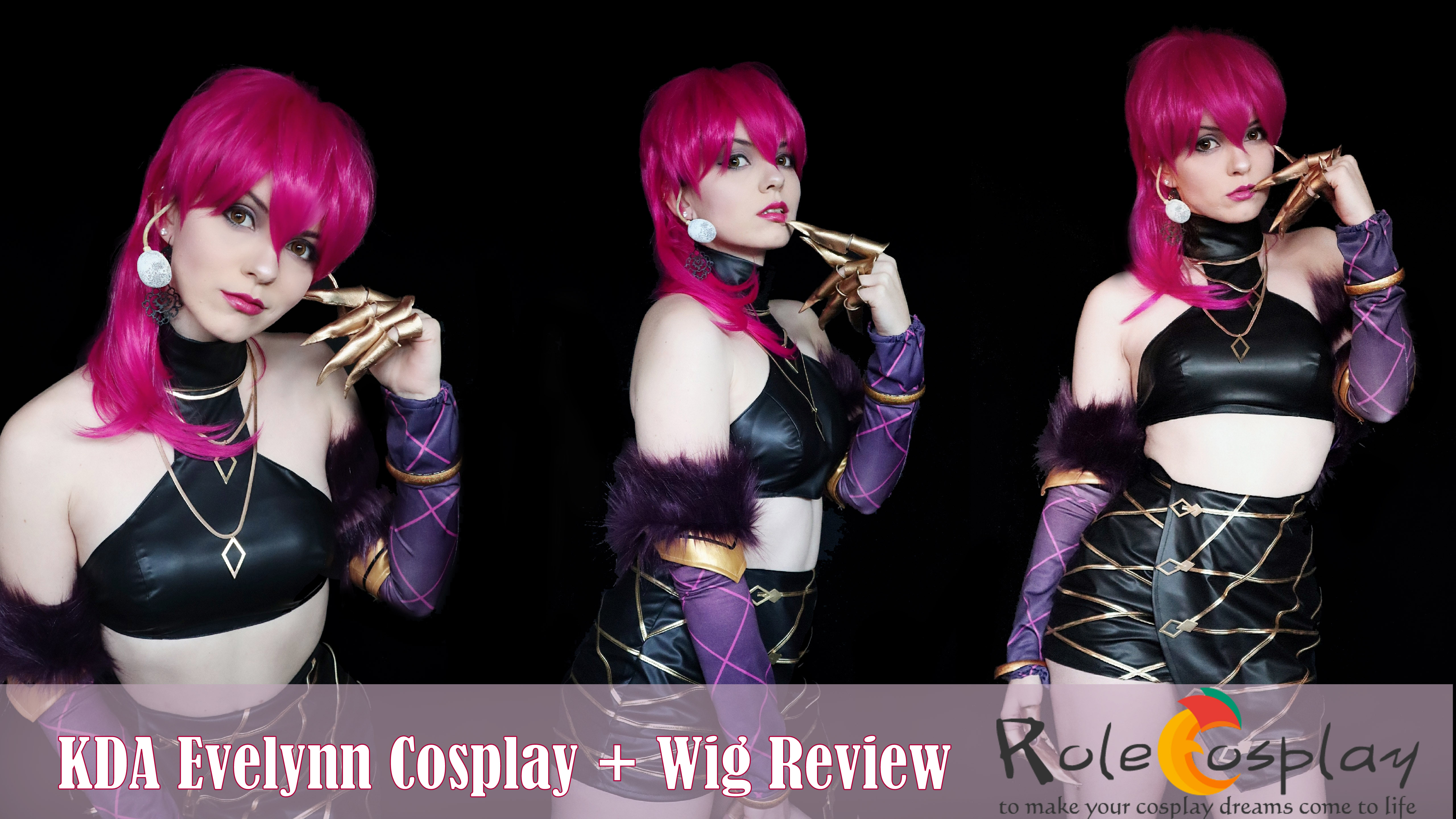 KDA Evelynn Cosplay + Wig Review from Rolecosplay