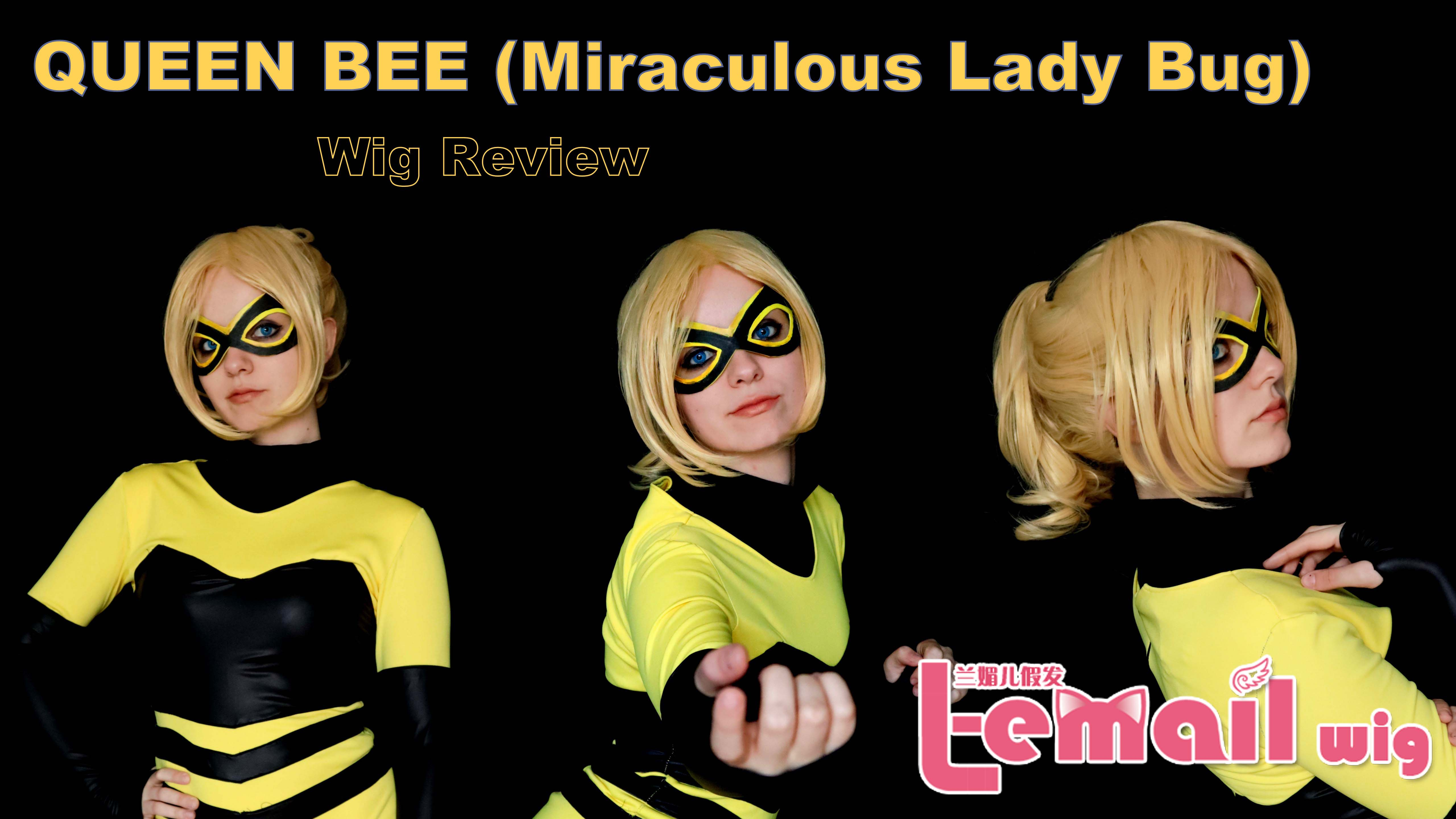 Wig Review: Queen Bee (Miraculous Lady Bug) from L-email wigs