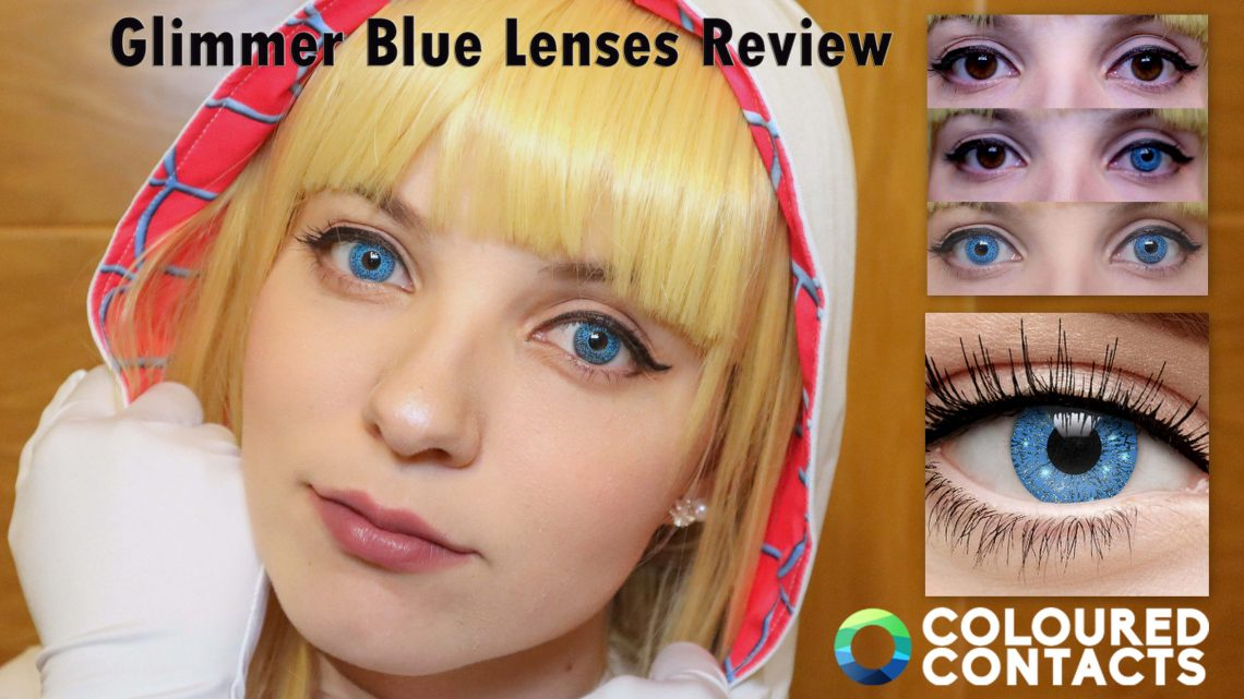 Lenses Review: Glimmer Blue from Coloured Contacts