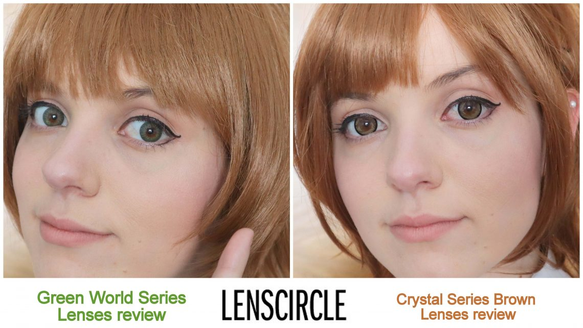Lenses Review: Green World Series + Crystal Series Brown from Lens Circle