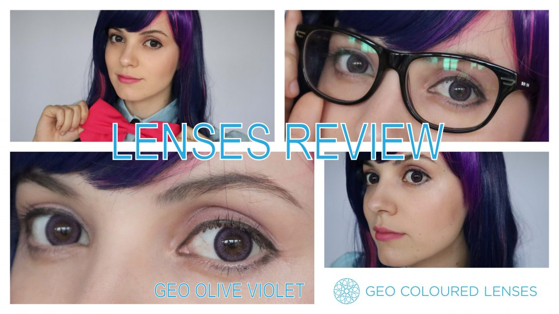 Lenses Review: Geo olive Violet from Geo Coloured Lenses