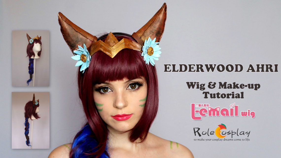 Elderwood Ahri Wig & Make-up tutorial