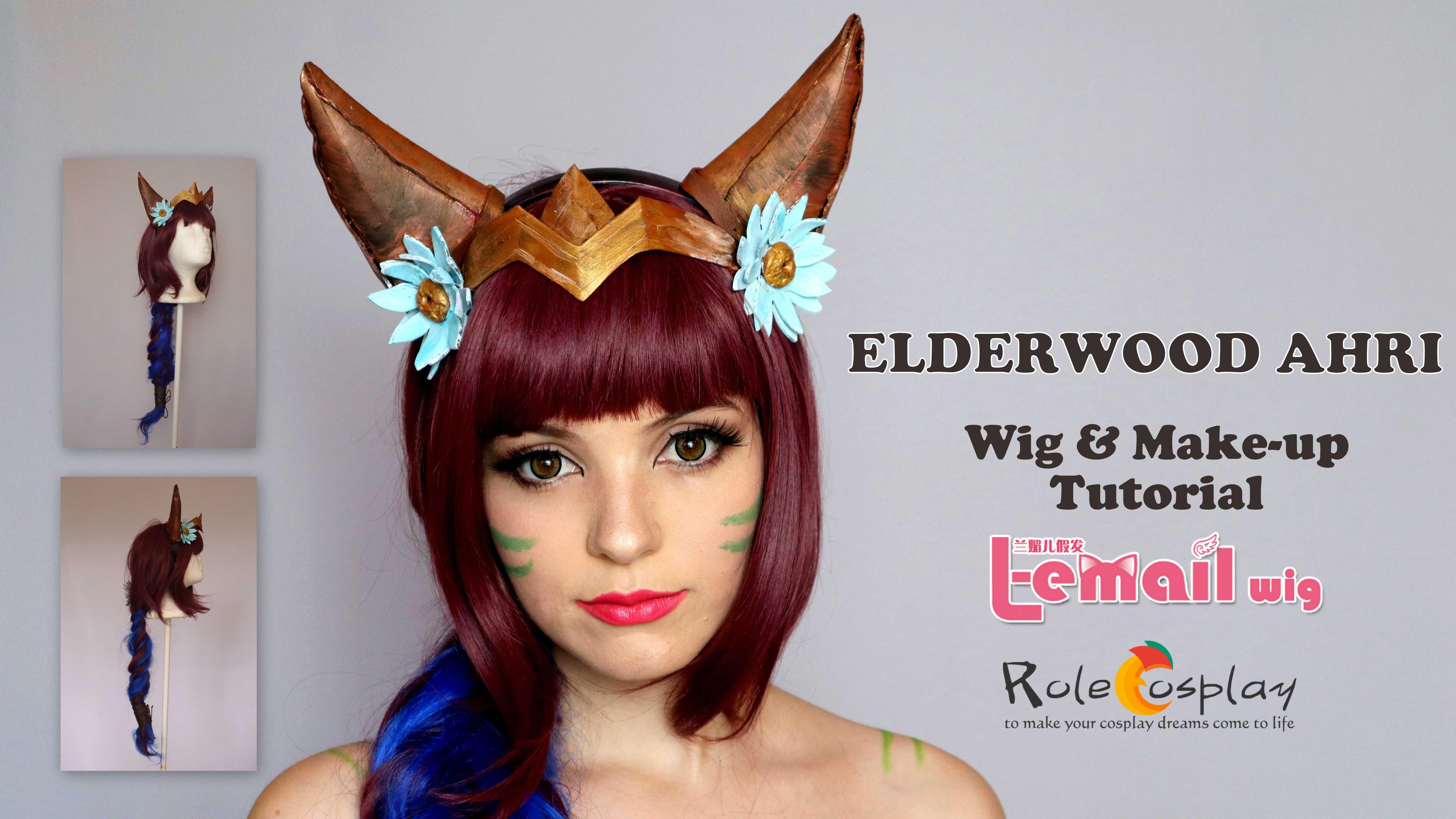 Elderwood Ahri Wig & Make-up tutorial