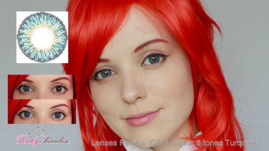 Lenses Review: G&G Gothic three tones turqoise
