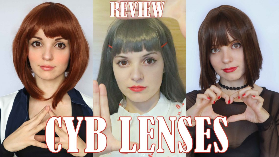 Lenses Review: Fancy Brown / Fancy Red and Juicy Gray from Cybilenses Coloured Contacts Lenses