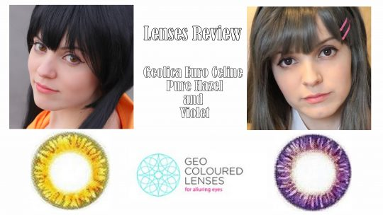 Lenses Review: Geo Euro Celine Pure Hazel & Violet from Geo Coloured Lenses