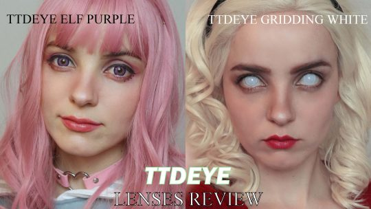 Lenses Review: Gridding White and Elf Purple from TTDEYE