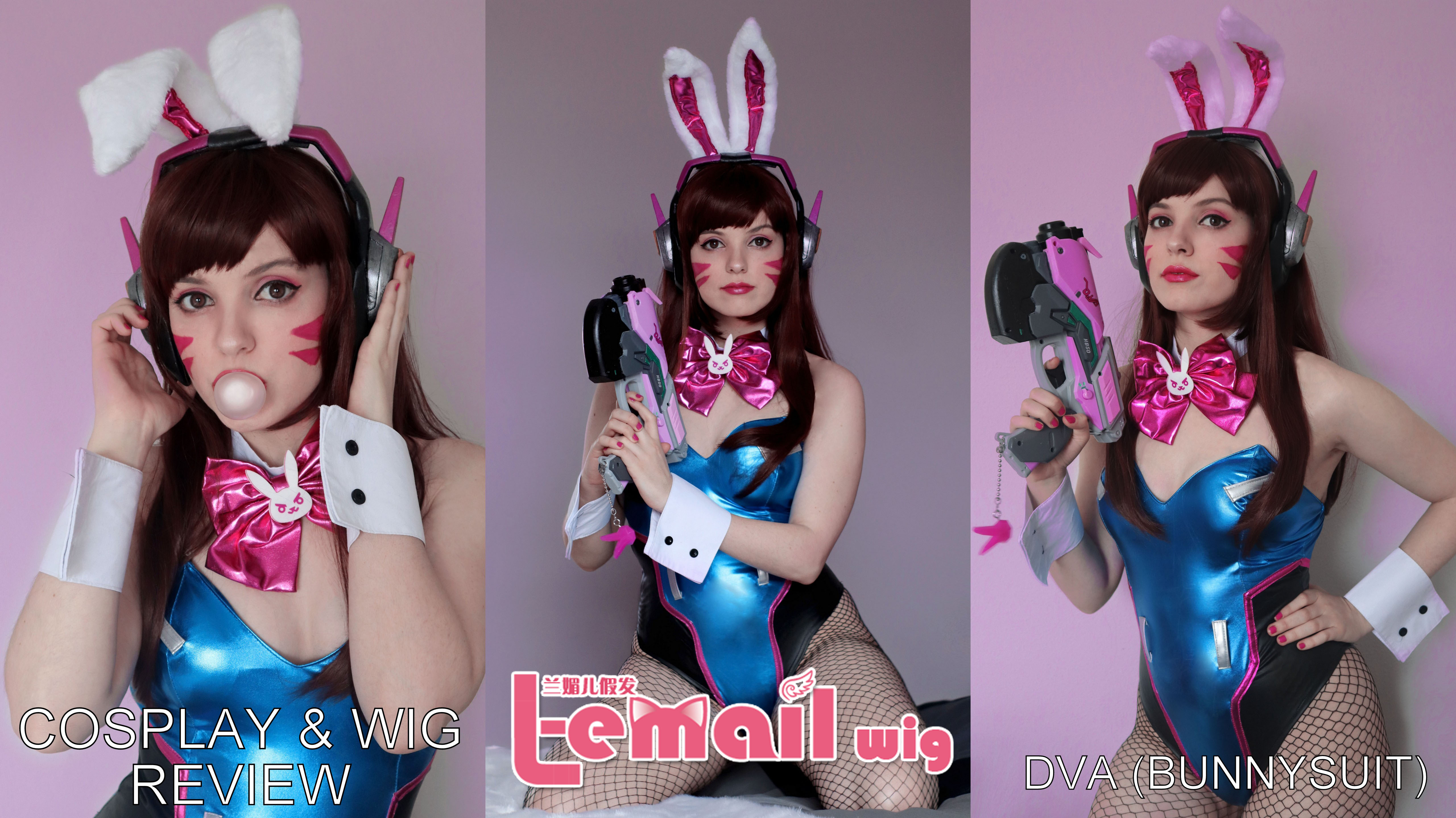 Cosplay & wig review: Dva (bunnysuit) from L-email wigs.