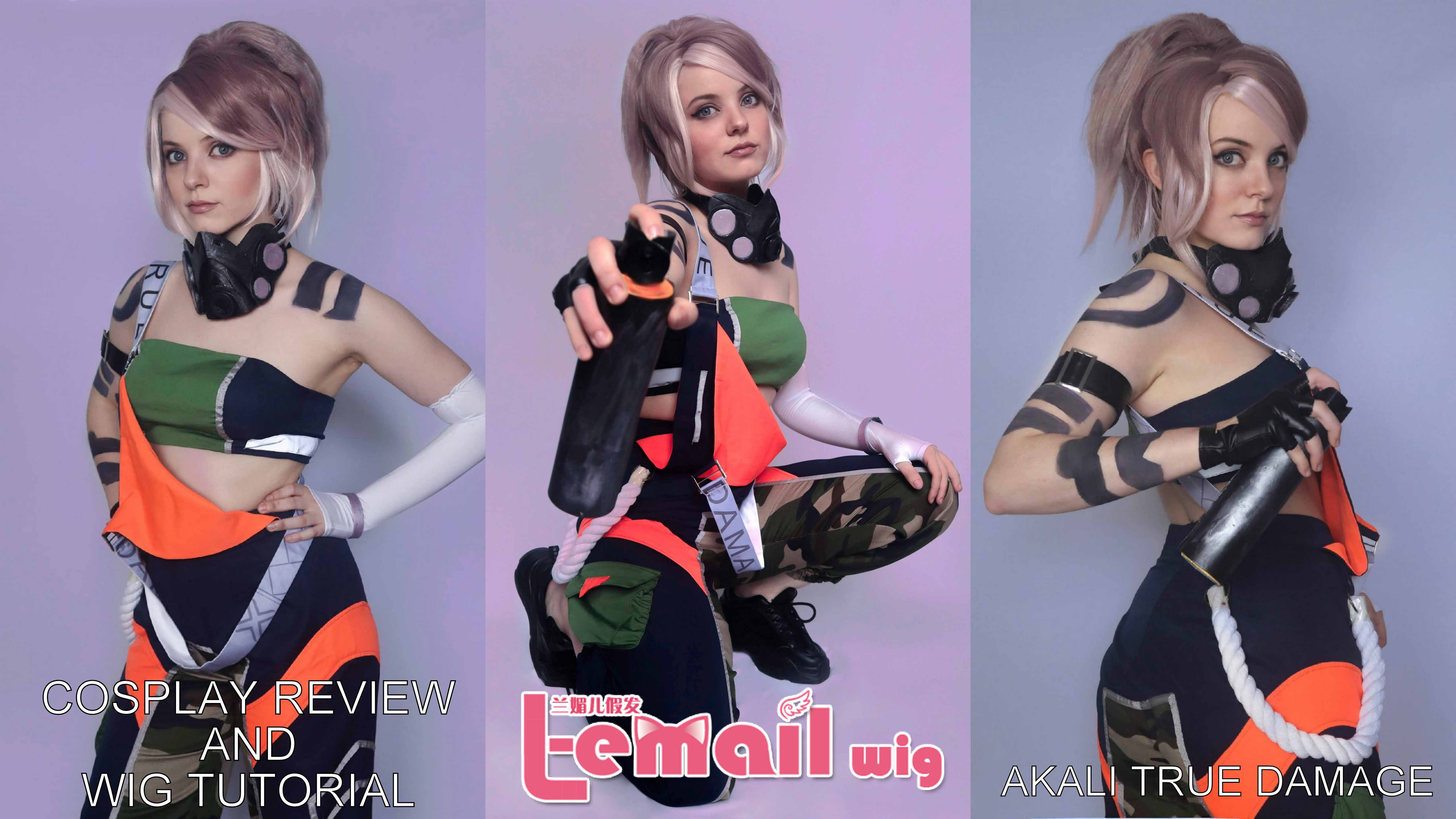 Cosplay & Wig Review: Akali True Damage from L-email wigs