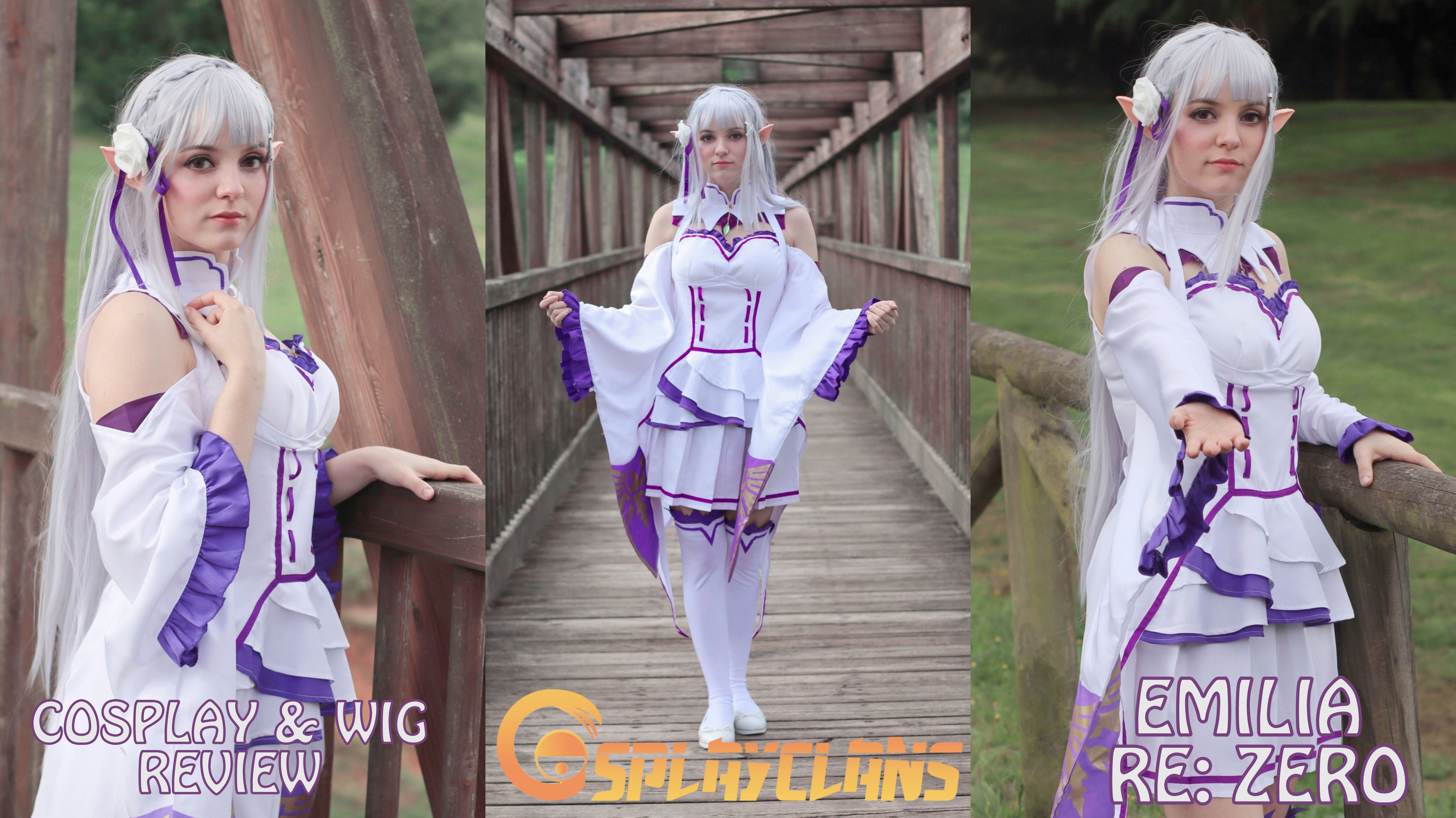 Cosplay & wig Review: Emilia (Re:Zero) from Cosplayclans