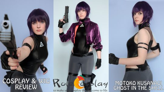 Cosplay & wig review: Motoko Kusanagi (Ghost in the shell) from Rolecosplay