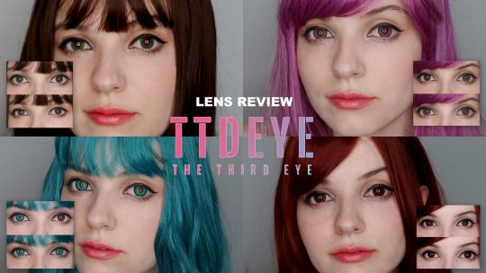 Lenses Review: Elf Green, Magic Red, Dodo Pink and Fantasyland Green from Ttdeye