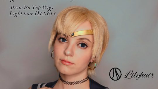 Wig Review & hairstyle tutorial: Pixie Pu Top Wig in Light-tone (H12-613) from Lily Hair