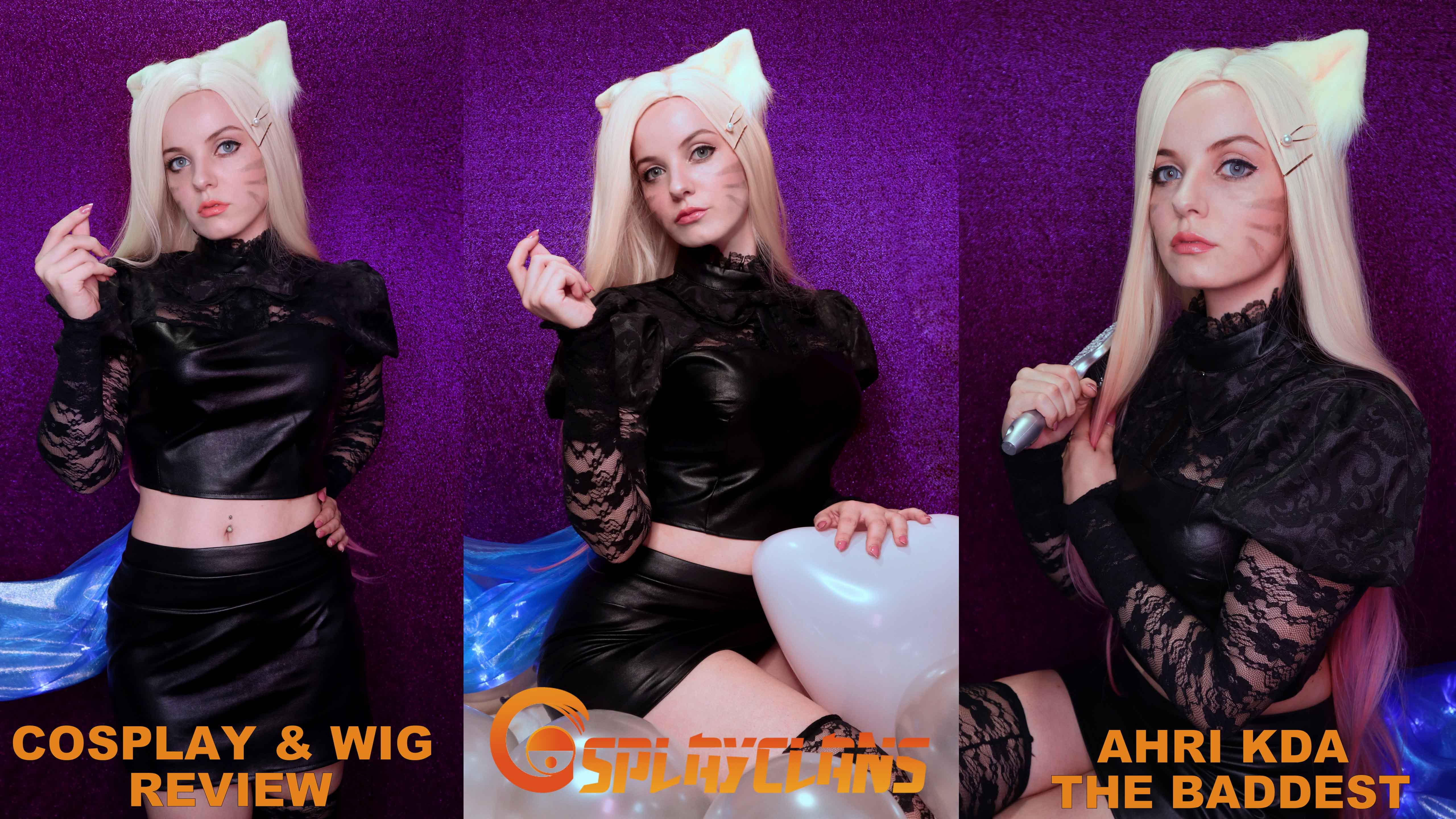 Cosplay & Wig review: Ahri KDA The Baddest from Cosplayclans