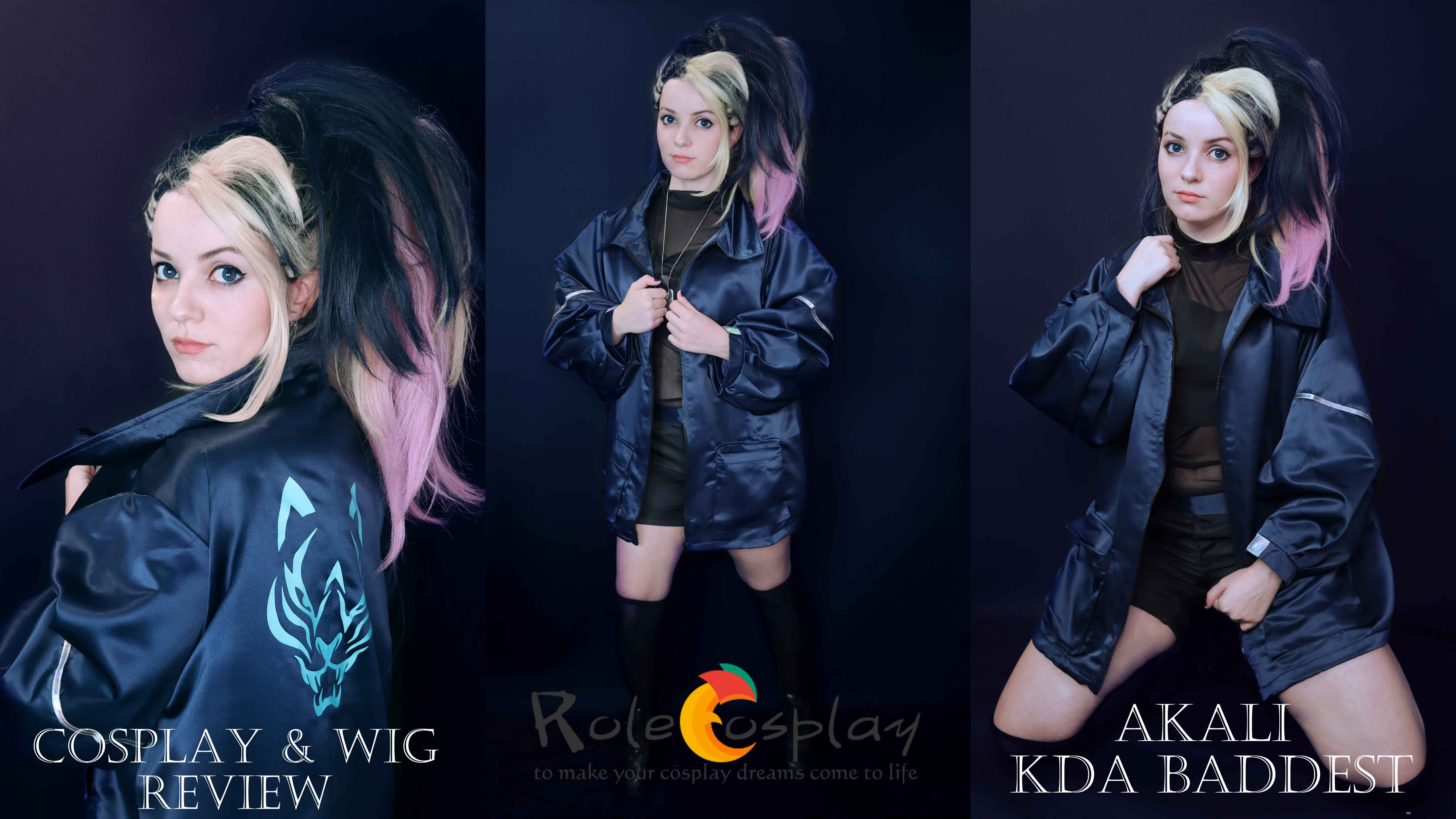 Cosplay & wig review: Akali KDA Baddest from Rolecosplay