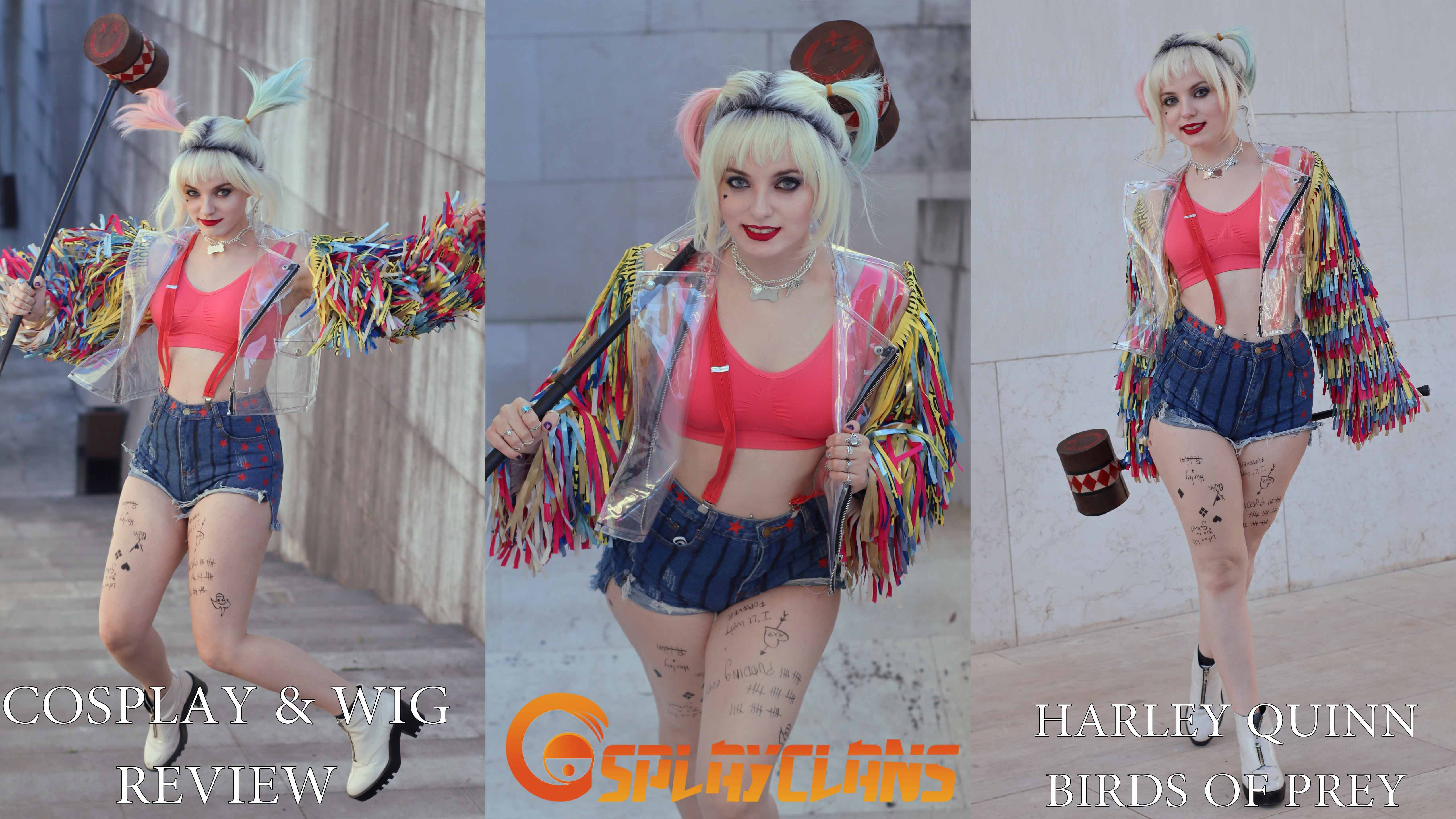 Cosplay & wig review: Harley Quinn Birds of Prey from Cosplayclans