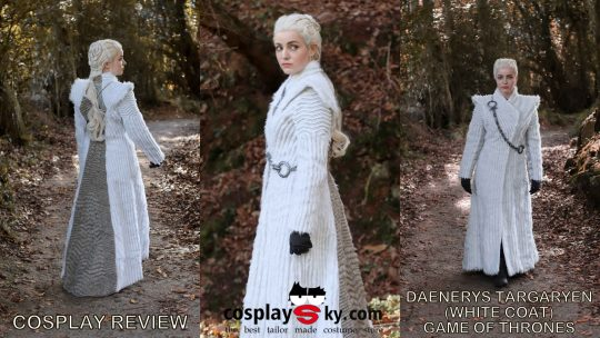 Cosplay review: Daenerys Targaryen (Game of Thrones) White coat from Cosplaysky
