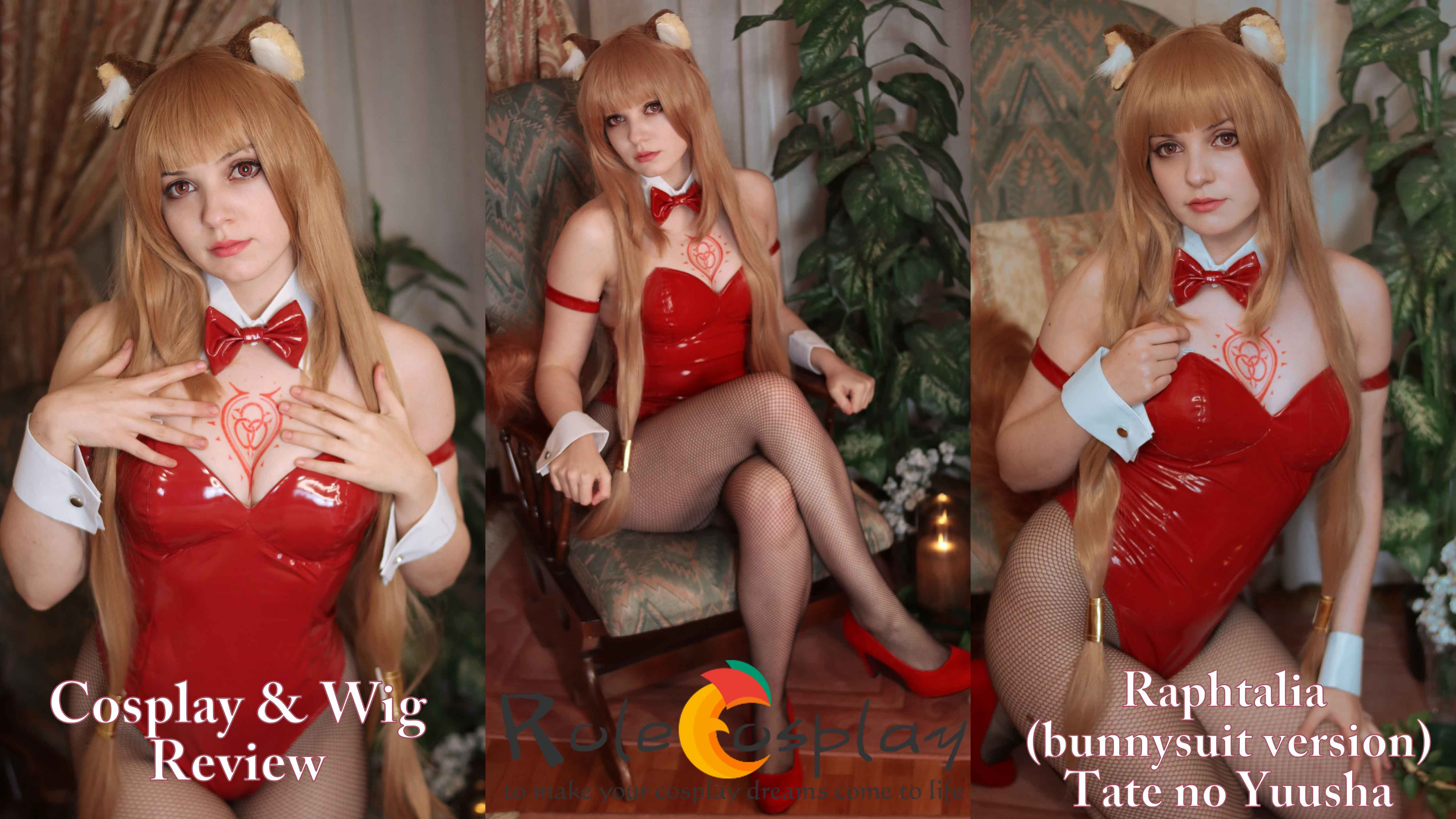 Cosplay & wig review: Raphtalia bunnysuit (Tate no Yuusha) from Rolecosplay