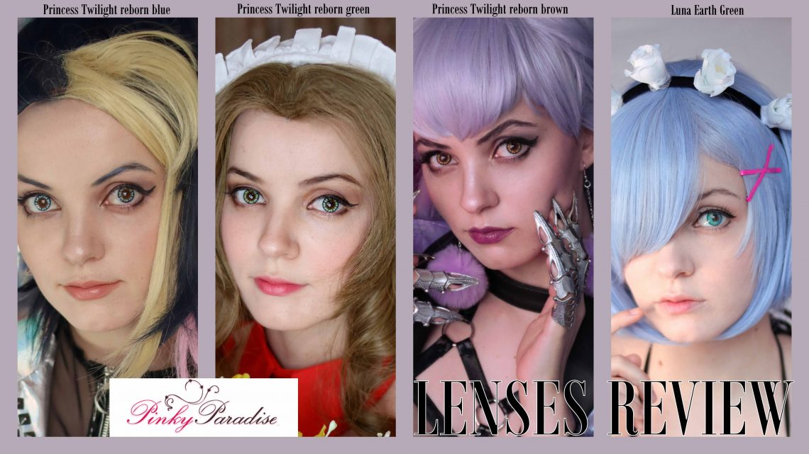 Lenses Review: Princess Twilight Reborn Brown / Blue / Green and Lunar Earth Green from Pinky Paradise