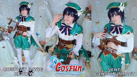Cosplay & Wig review: Venti (Genshin Impact) from Cosfun